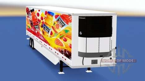 Refrigerado semi-remolque para American Truck Simulator