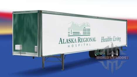 La piel de Alaska Hospital Regional en el remolq para American Truck Simulator