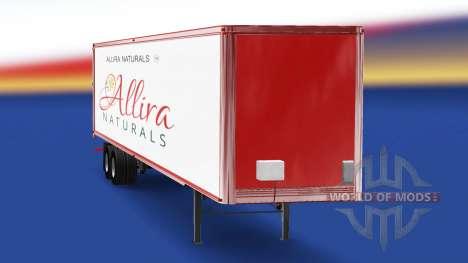 La piel Allira en el remolque para American Truck Simulator