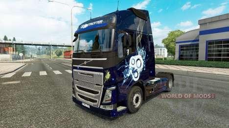 Elegante de la piel para camiones Volvo para Euro Truck Simulator 2