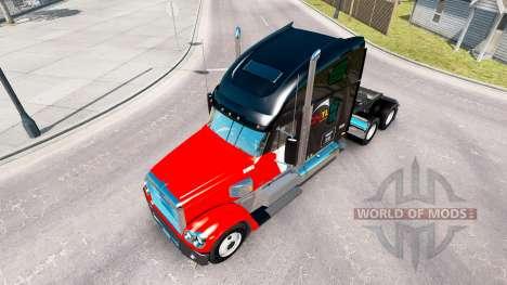 La piel CNTL en el camión Freightliner Coronado para American Truck Simulator