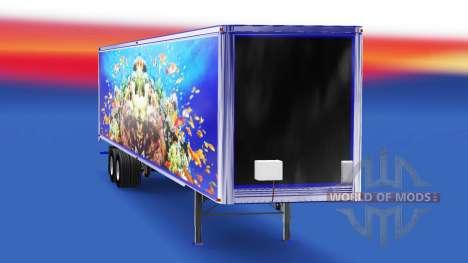 La piel de los Peces en el remolque para American Truck Simulator