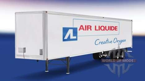 La piel de Air Liquide en el remolque para American Truck Simulator