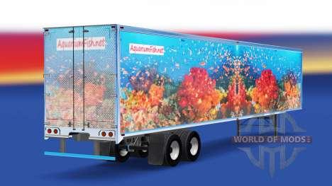 La piel de los Peces v3.0 en el semi-remolque para American Truck Simulator