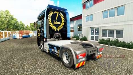 La piel de DJ Charty en el tractor HOMBRE para Euro Truck Simulator 2