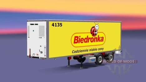 Semitrailer el refrigerador Corona Biedronka para Euro Truck Simulator 2