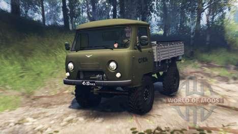 UAZ-452Д v3.0 para Spin Tires