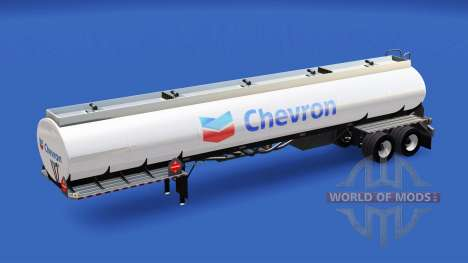 La piel de Chevron en el tanque de combustible para American Truck Simulator