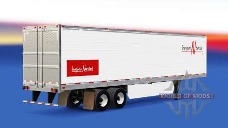 La piel de Transporte N v2 de Servicio.0 en el s para American Truck Simulator