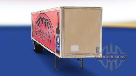 La piel de Alaska Brewing Company en el remolque para American Truck Simulator