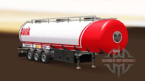 La piel Avia en combustible semi-remolque para Euro Truck Simulator 2