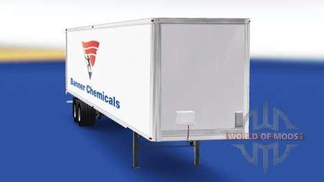 La piel Banner de productos Químicos en el remol para American Truck Simulator
