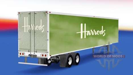 La piel de los grandes almacenes Harrods en el r para American Truck Simulator