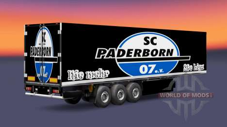 La piel SC Paderborn 07 en semi para Euro Truck Simulator 2
