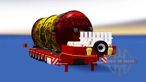 Baja barrido con un tanque de carga para American Truck Simulator