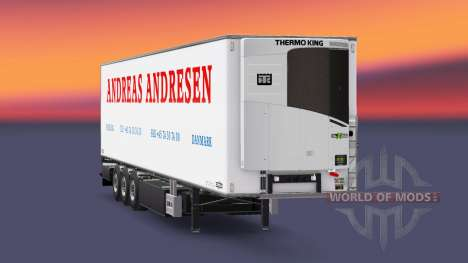 Semi-remolque frigorífico Chereau Andreas Andres para Euro Truck Simulator 2