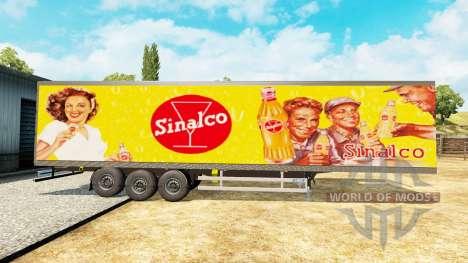 Narko Semi-Remolque Sinalco para Euro Truck Simulator 2