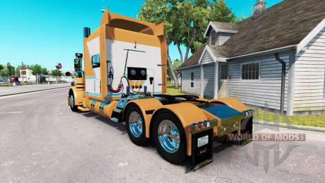 La piel para el Chad Blackwell Peterbilt 389 tra para American Truck Simulator