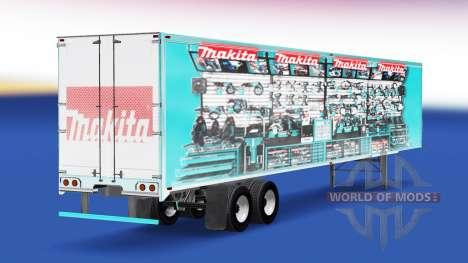 La piel Makita v2.0 en el semi-remolque para American Truck Simulator