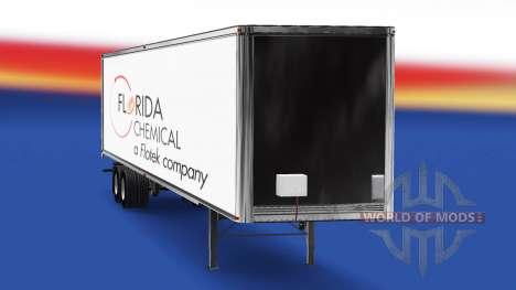 Florida Química de la piel en el remolque para American Truck Simulator