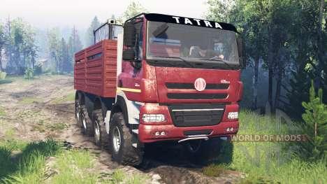 Tatra Phoenix T 158 8x8 v7.0 para Spin Tires