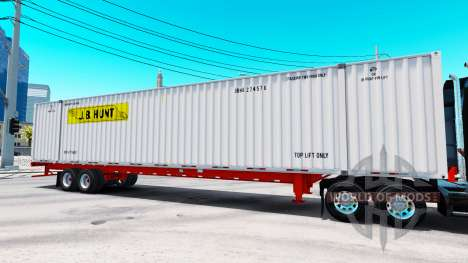Semirremolque contenedor de J. B. Hunt para American Truck Simulator