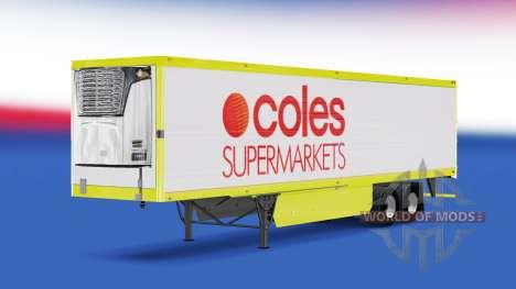 La piel de Coles de Supermercados en el trailer para American Truck Simulator