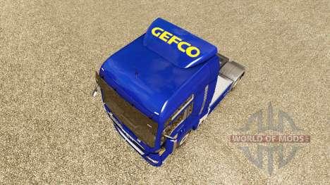 La piel Gefco para tractor HOMBRE para Euro Truck Simulator 2
