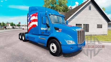 La piel Walmart USA camión Peterbilt para American Truck Simulator