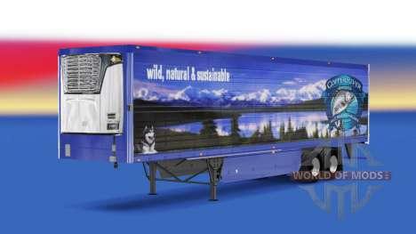 La piel de Cobre de Río Mariscos v2.0 en el semi para American Truck Simulator