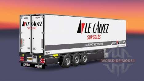 Semi-remolque frigorífico Chereau Le Calvez para Euro Truck Simulator 2