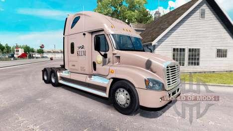 Скин KLLM Transporte на Freightliner Cascadia para American Truck Simulator