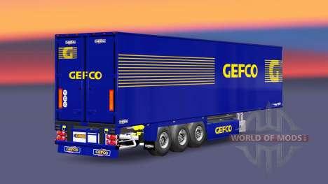 Semi-remolque frigorífico Chereau Gefco para Euro Truck Simulator 2