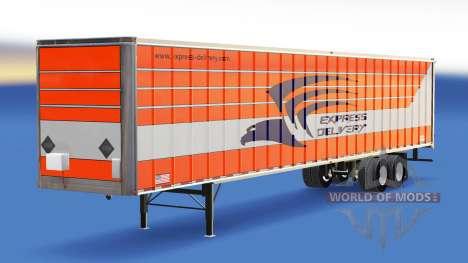 La piel de Entrega Exprés en el remolque para American Truck Simulator