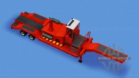 Semi-remolque con una astilladora de madera para American Truck Simulator