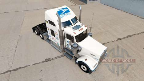 Скин Postal de los Estados unidos на Kenworth W9 para American Truck Simulator