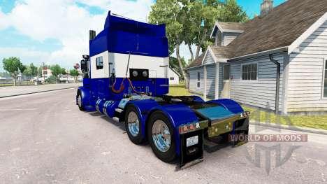La piel Azul y Blanco para el camión Peterbilt 3 para American Truck Simulator