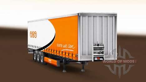 La piel de TNT en una cortina semi-remolque para Euro Truck Simulator 2