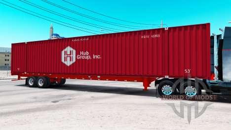 Semirremolque contenedor Hub Group Inc para American Truck Simulator