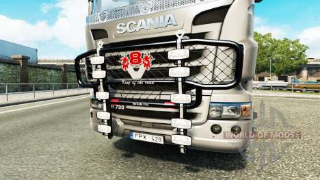 El parachoques V8 v3.0 camión Scania para Euro Truck Simulator 2
