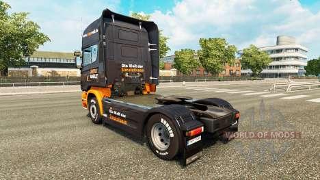 La piel Simuwelt en el tractor Scania para Euro Truck Simulator 2