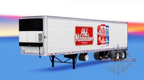La piel Vieja de Milwaukee en el remolque para American Truck Simulator