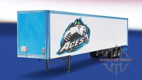 La piel de Alaska Aces en el remolque para American Truck Simulator