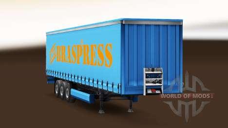 Braspress Transportes de la piel para el remolqu para Euro Truck Simulator 2
