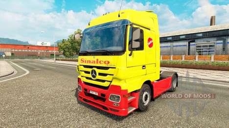 Sinalco de la piel para Mercedes Benz camión para Euro Truck Simulator 2