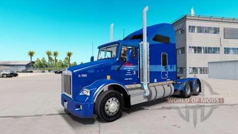 La piel Carlile Trans en los tractores para American Truck Simulator