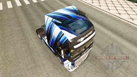 Las Rayas azules de la piel para camiones Volvo para Euro Truck Simulator 2