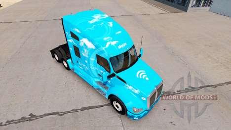 La piel de Skype en un Kenworth tractor para American Truck Simulator