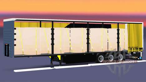 Cortina semi-remolque Schmitz Cargobull Dischner para Euro Truck Simulator 2