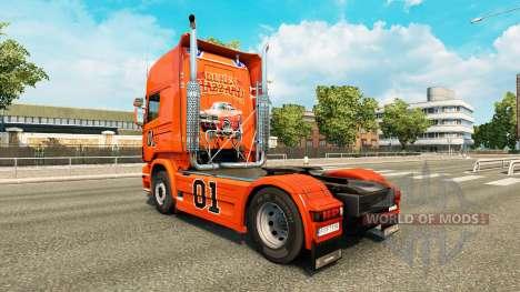 La piel de Hazzard v2.0 camión Scania para Euro Truck Simulator 2